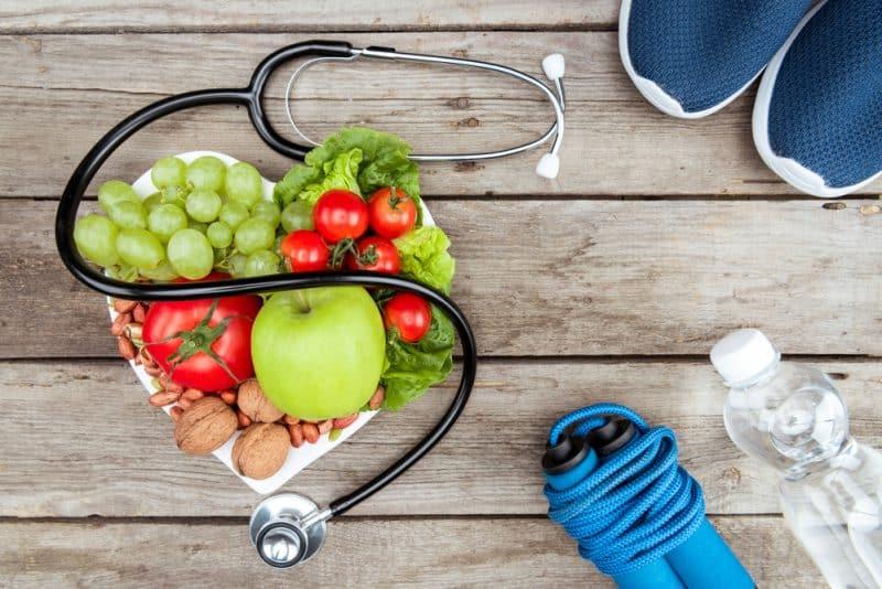 stethoscope organic food and sport